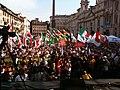 Manifestazione contro la legge bavaglio piazza navona roma.JPG