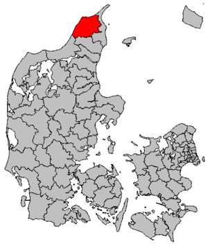 Hjørring Municipality - Location of Hjørring municipality within Denmark