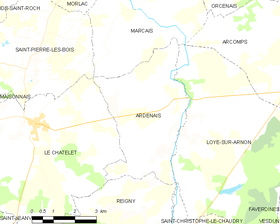 Map commune FR insee code 18010.png