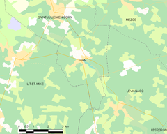 Map commune FR insee code 40322.png