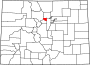 Map of Colorado highlighting Gilpin County.svg