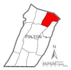 Location of Dublin Township in Fulton County