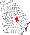 Map of Georgia highlighting Laurens County.svg