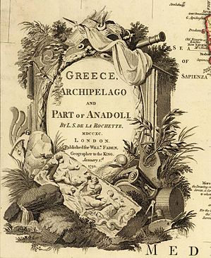 Map of Greece, Archipelago and part of Anadoli; Louis Delarochette 1791 — Detail cartouche.jpg