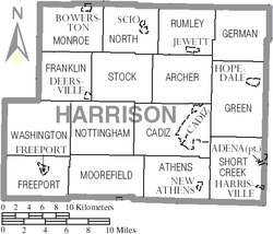 Municipalities and townships of Harrison County