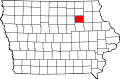 Map of Iowa highlighting Bremer County.svg