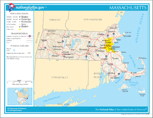 Outline of Massachusetts - An enlargeable map of the Commonwealth of Massachusetts