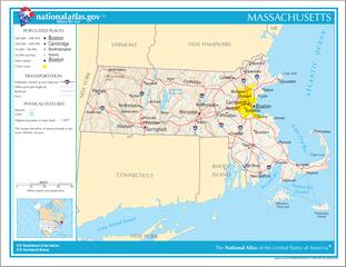 Landkarte von Massachusetts