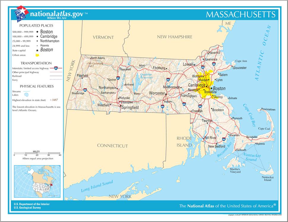 Map of Massachusetts NA