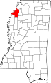 Map of Mississippi highlighting Coahoma County.svg