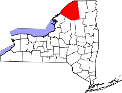 Map of New York highlighting St. Lawrence County.svg