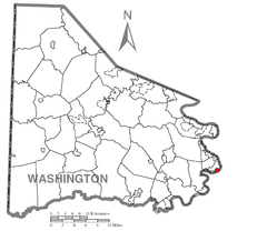 Map of Stockdale, Washington County, Pennsylvania Highlighted.png