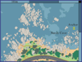 Map of dive site Sandy Cove.png