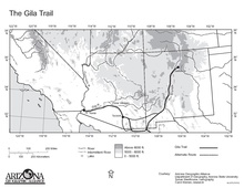 Agricultural Inspections Between Arizona And California Map.U S Route 80 In Arizona Wikipedia