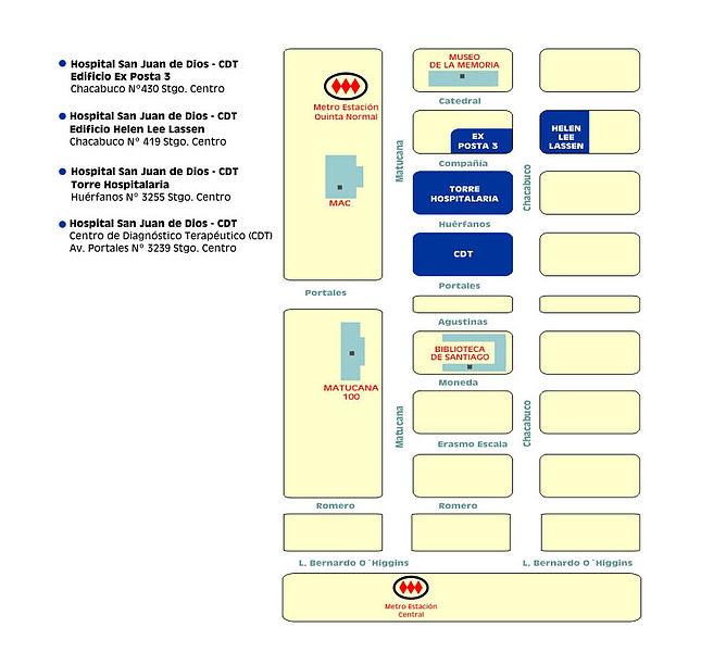 Archivo mapa ubicacion y como llegar hospital san juan de dios wikipedia la - Hospital de la paz como llegar ...