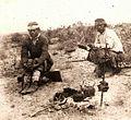 Mapuches tomando mate na Pampa.jpg