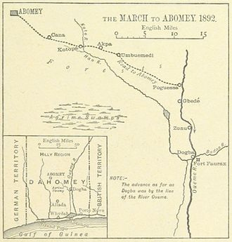 Second Franco-Dahomean War - The French route to Abomey