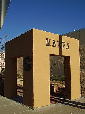 Marfa, Texas - Marker of Marfa