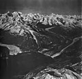 Margerie and Grand Pacific Glaciers, tidewater glacier terminus and hanging glaciers on the mountainsides, September 12, 1973 (GLACIERS 5634).jpg