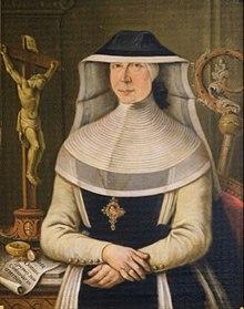 Maria Johanna Baptista Von Zweyer Abbess Of The Cistercian Abbey Wald