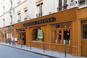 Mariage Frères, 30 rue du Bourg,Tibourg, Paris.