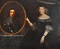Marie de Bourbon princess of Carignano with a portrait of her deceased husband.jpg