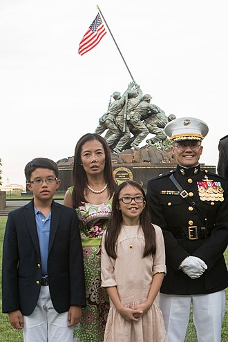 William H. Seely III - Brig. Gen. Seely with his wife and children in 2017