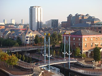 City of Salford - A view over Salford, Greater Manchester