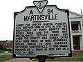 Martinsville Virginia historic marker.JPG