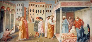 VI=Healing of the Cripple and Raising of Tabitha, Masolino