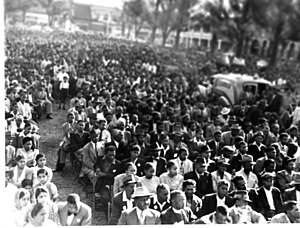 Group Areas Act - Image: Mass Meeting at Durban on May 28, 1950 to protest against Group Area Bill and Suppression of Communism Bill
