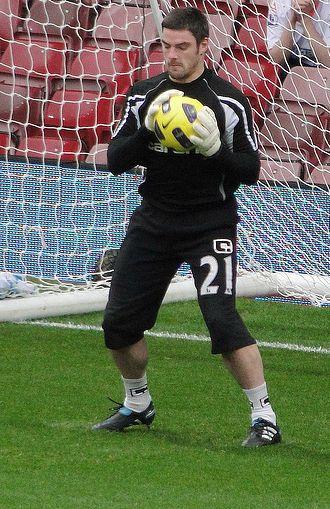 Matt Gilks - Gilks training with Blackpool in 2010