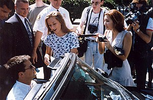 Matthew Perry - Perry departing rehearsal for the 1995 Emmy Awards