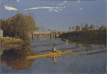 Eakins'in Max Schmitt in a Single Scull adlı yağlı boya eseri