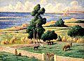 Maximilien LUCE, L'île à bois, Kermouster, Lézardrieux, 1914, Giverny, musée des impressionistes, MDIG 2011.1.2.JPG