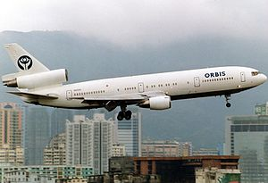 Orbis International - Orbis International McDonnell-Douglas DC-10-10 at Kai Tak
