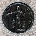 Medaglione di marco aurelio, 166 dc, verso con giove con la folgore, marco aurelio e lucio vero.JPG