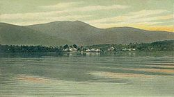 Melvin Village from Lake Winnipesaukee c. 1906