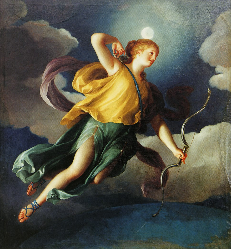 Mengs, Diana als Personifikation der Nacht