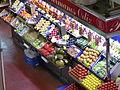 Mercado de la Cebada, frutería, Madrid, España, 2015 03.JPG