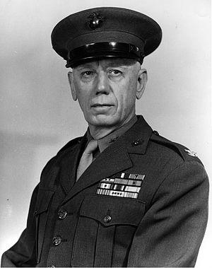 Merton J. Batchelder - Batchelder as Colonel, USMC