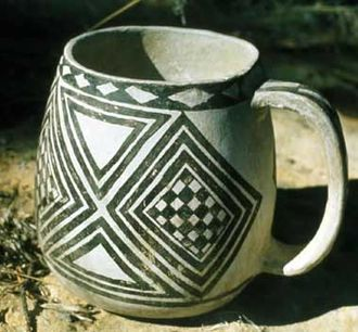 Mesa Verde region - Mesa Verde mug, made in 13th century, MVNP museum collections