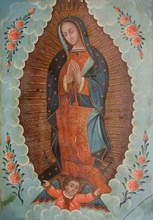 Retablo historic reredos in Spain, votive paintings of Mexican folk art