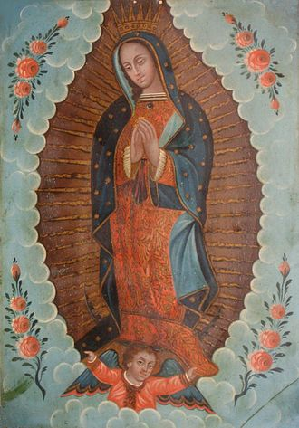 Retablo - Mexican oil paint on tin retablo of 'Our Lady of Guadalupe', 19th century, El Paso Museum of Art