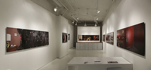 Inspiration And Originality Underlined Lighting For Art Shows