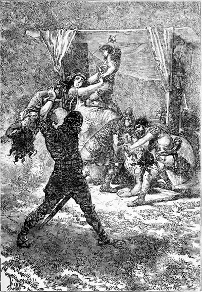 Chien Brutus dans CHIEN 400px-Michelet_-_Histoire_de_France_-_Lacroix_1880_tome_1_-_illustration_-_page_283