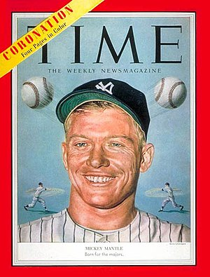 Mickey Mantle - Mantle on the cover of Time (June 15, 1953)