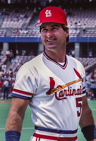 Mike Heath - Heath during his one season with the St.Louis Cardinals, 1986.