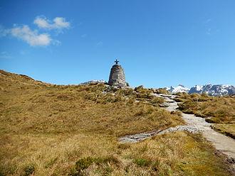 Quintin McKinnon - Memorial Cairn on Mackinnon Pass