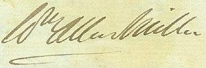 William Allen Miller - Miller's signature